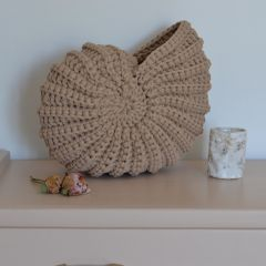Coquillage rond en crochet otter Supcio Design