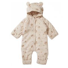 New born onesie with hood nostalgie blush Konges Slojd