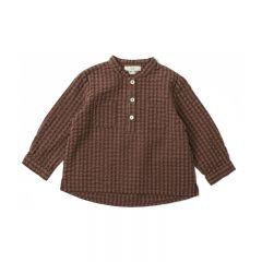 Charlie shirt brown check Konges Slojd