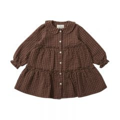 Ava dress brown check Konges Slojd