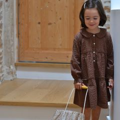 Robe ava brown check Konges Slojd