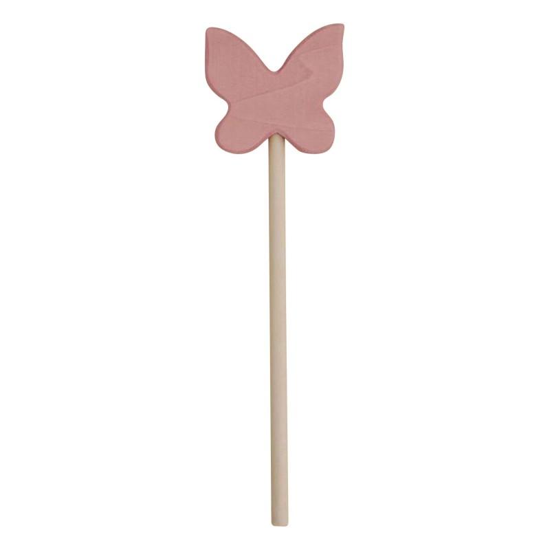 Baguette magique papillon en bois rose pâle Raduga Grez