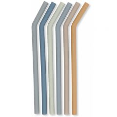 6 pack straws blue boys  Konges Slojd