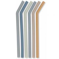 Lot de 6 pailles écologiques bleues Konges Slojd