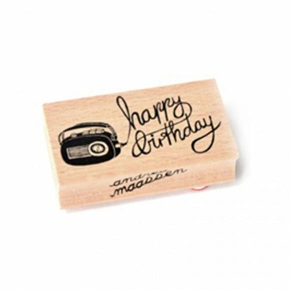 ANDREA MAASEN  Tampon Happy birthday