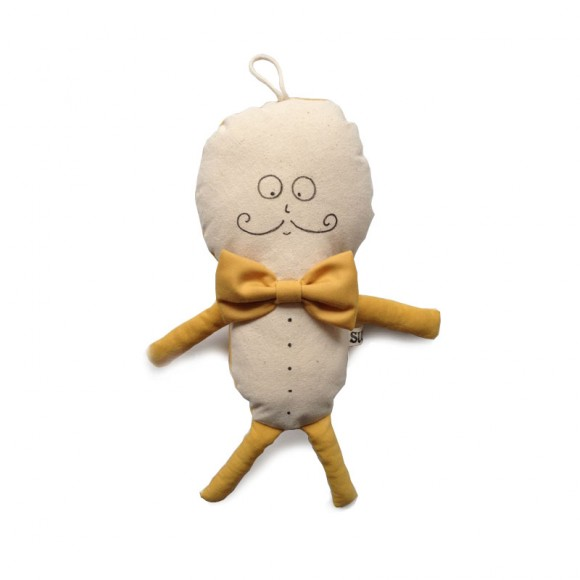 SUUSSIES  Doudou Mr Dollie moutarde  (Prix initial : 33.00€)