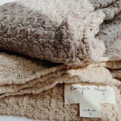 Couverture en laine paloma brown Konges Slojd