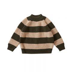 Witum knit sweater creamy dark olive
