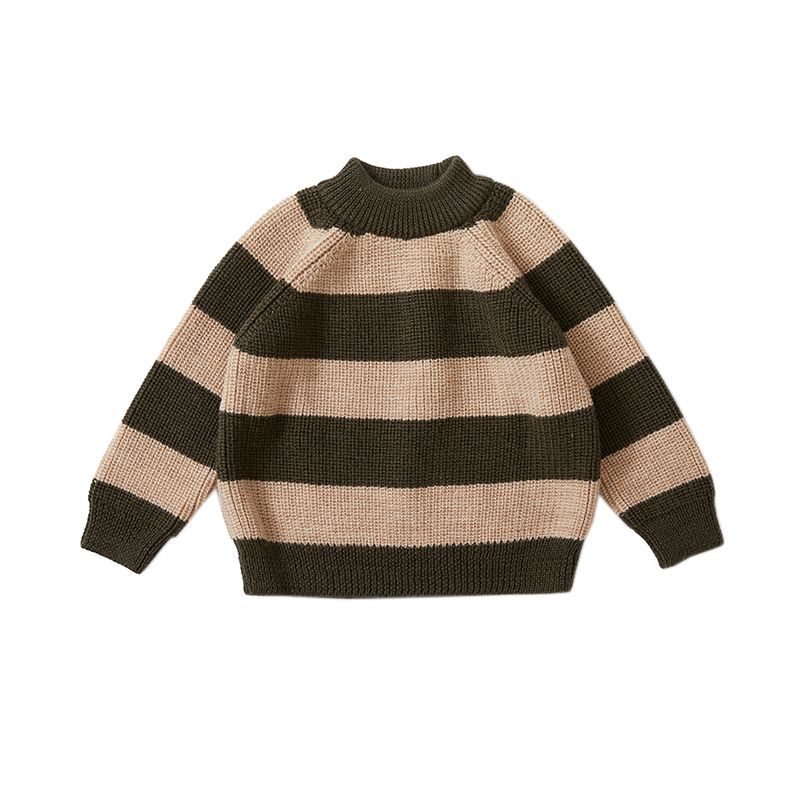 Witum knit sweater creamy dark olive Konges Slojd