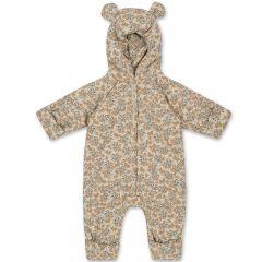 New born onesie with hood orangery beige Konges Slojd