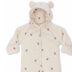 New born onesie with hood cherry Konges Slojd