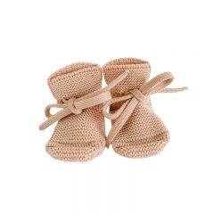 Chaussons en laine abricot Hvid