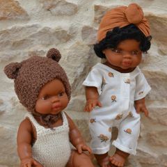 Doll clothes dots marbella/nut Bonjour Little