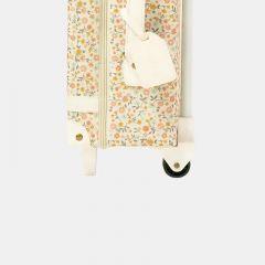 Petite valise à roulettes floral