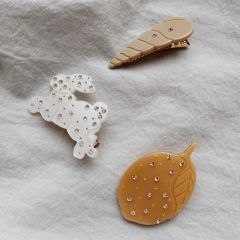 3 pack hair clips shell rabbit lemon Konges Slojd