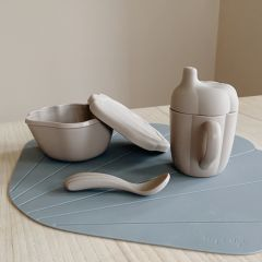 Silicone clam set warm grey Konges Slojd