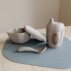 Silicone clam set warm grey Konges Slojd