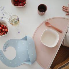 Set de table rose poudré Mushie
