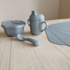 Set de repas coquillage light blue Konges Slojd