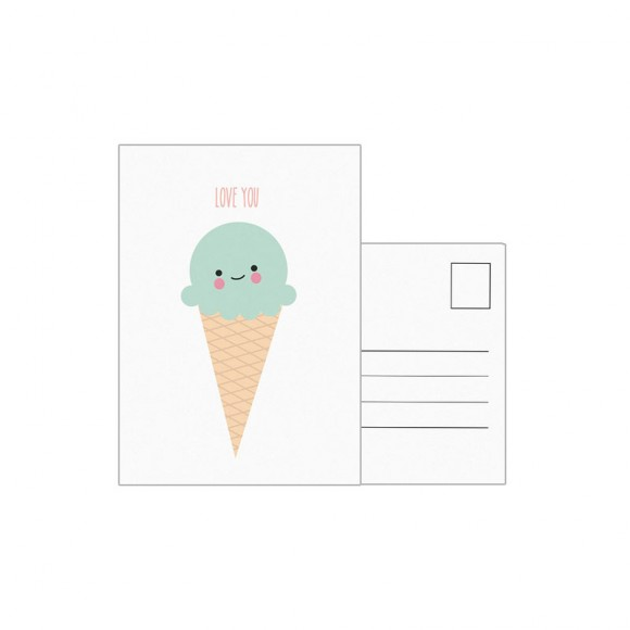 EEF LILLEMOR  Carte postale Ice