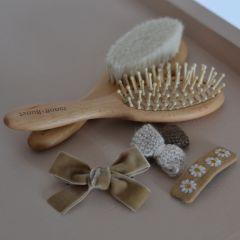 Set of beige hair clip Gentil Coquelicot