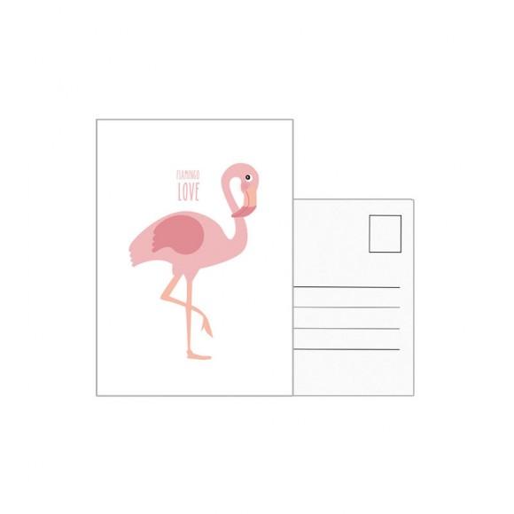 EEF LILLEMOR  Carte postale Flamingo