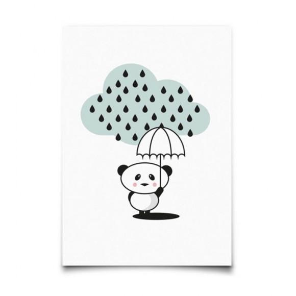 EEF LILLEMOR  Carte postale Panda rain