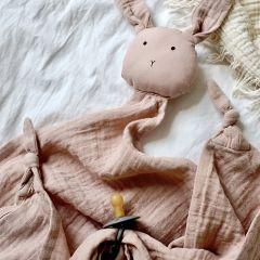 Grand doudou lange robbie rabbit rose Liewood