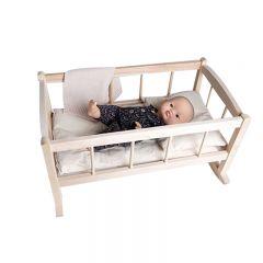 Lit de poupée en bois à bascule Minikane