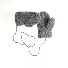 Wool mittens junior gully graphite