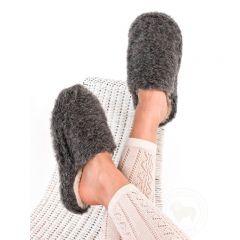 Pantoufles en laine femme graphite Alwero
