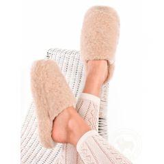 Pantoufles en laine beige Alwero