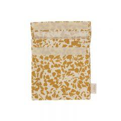 Sac à goûter en tissu mustard terrazzo Haps Nordic