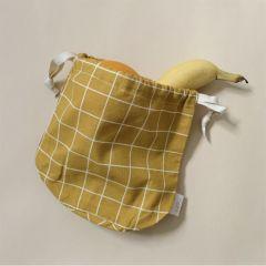 Multi bag small mustard check Haps Nordic