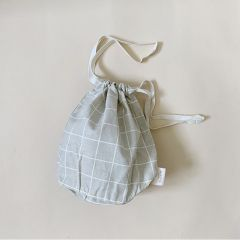 Multi bag small oyster grey check Haps Nordic