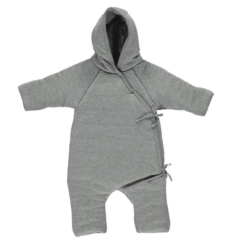 Rex new born Pilot suit grey melange Marmar Copenhagen