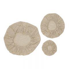 Lot de 3 couvercles en tissu oyster grey wave Haps Nordic