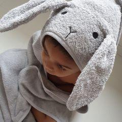 Augusta hooded junior towel rabbit dumbo grey