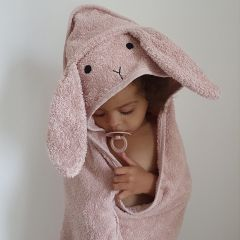 Albert hooded junior towel rabbit rose Liewood