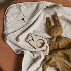 Albert hooded junior towel pola bear sandy Liewood
