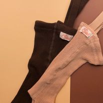 Tights with braces chocolate brown Silly Silas