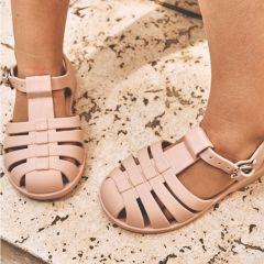 Rubber beach sandals dark rose Liewood