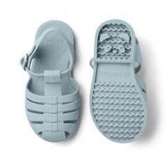 Rubber beach sandals sea blue Liewood