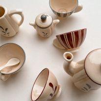Ceramic tea set Konges Slojd