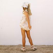 Barboteuse à smocks summer blossom Liilu