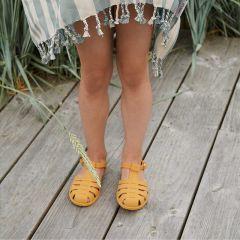 Rubber beach sandals yellow mellow Liewood