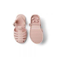 Rubber beach sandals rose Liewood