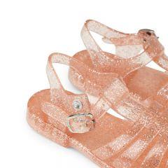 Rubber beach sandals glitter peach Liewood